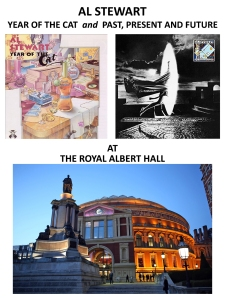 Al Stewart performing the albums Year of the Cat & Past, Present and Future at the Royal Albert Hall- May 16 and 22, 2015.
